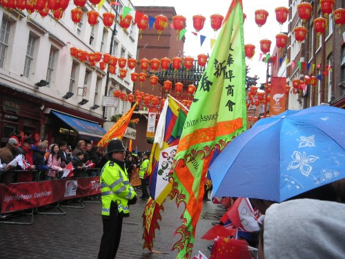 Chinatown flags