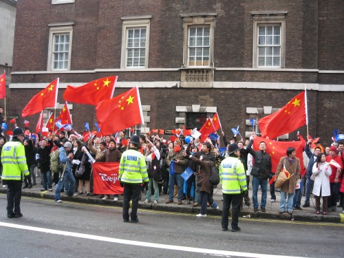 Torch Relay – Chinese supporters