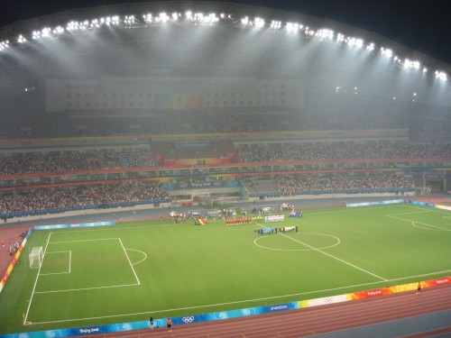 2008 Olympic Football Match in Shanghai